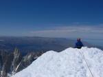 Colin on Cerro Torre's summit.