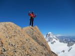 On the awesome summit of the Grand Capucin.