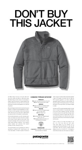 "Patagonia's ad in The New York Times on ""Black Friday."""